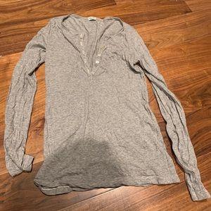 EUC Splendid grey pocket henley size small